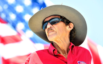 LONG POND, PA - JUNE 10:  Hall of Famer and team owner Richard Petty looks on from the top of the hauler during practice for the NASCAR Sprint Cup Series 5-Hour Energy 500 at Pocono Raceway on June 10, 2011 in Long Pond, Pennsylvania.  (Photo by Jason Smi