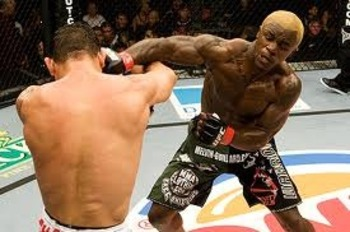Melvin Guillard delivering an explosive right hook