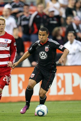 WASHINGTON, DC - MAY 7: Charlie Davies #9 of D.C. United controls the ball against FC Dallas at RFK Stadium on May 7, 2011 in Washington, DC. The game ended 1-1. (Photo by Ned Dishman/Getty Images)