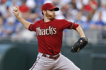 KANSAS CITY, MO - JUNE 22: Starting pitcher Ian Kennedy #31 of the Arizona Diamondbacks throws against the Kansas City Royals at Kauffman Stadium on June 22, 2011 in Kansas City, Missouri. (Photo by Ed Zurga/Getty Images)