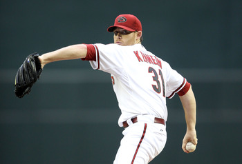PHOENIX, AZ - MAY 31:  Starting pitcher Ian Kennedy #31 of the Arizona Diamondbacks pitches against the Florida Marlins during the Major League Baseball game at Chase Field on May 31, 2011 in Phoenix, Arizona.  (Photo by Christian Petersen/Getty Images)