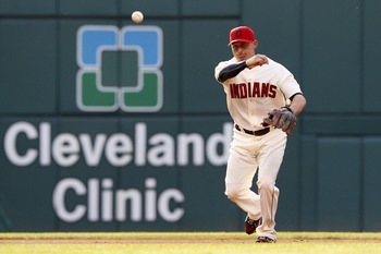 CLEVELAND, OH - JUNE 18:   Asdrubal Cabrera #13  of the Cleveland Indians throws to first base during the first inning against the Pittsburgh Pirates in their game on June 18, 2011 at Progressive Field in Cleveland, Ohio.  The Indians defeated the Pirates