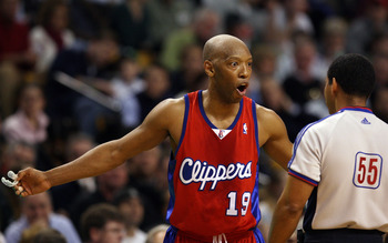 BOSTON - FEBRUARY 06:  Sam Cassell #19 of the Los Angeles Clippers reacts to a call with the referee in the first half against the Boston Celtics on February 6, 2008 at the TD Banknorth Garden in Boston, Massachusetts.  NOTE TO USER: User expressly acknow