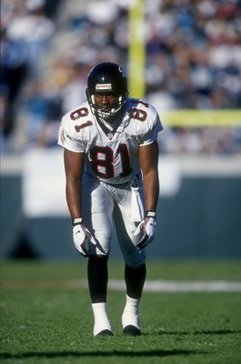 22 Dec 1997:  Wide receiver Terrance Mathis #81 of the Atlanta Falcons during the Falcons 19-17 loss to the Jacksonville Jaguars at Alltell Stadium in Jacksonville, Florida. Mandatory Credit: Andy Lyons  /Allsport