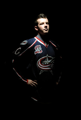 LOS ANGELES, CA - JUNE 25:  Ryan Johansen, drafted fourth overall by the Columbus Blue Jackets, poses for a portrait during the 2010 NHL Entry Draft at Staples Center on June 25, 2010 in Los Angeles, California.  (Photo by Harry How/Getty Images)