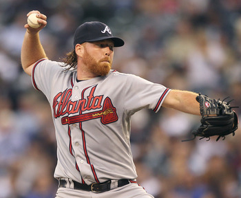 SEATTLE - JUNE 28:  Starting pitcher Tommy Hanson #48 of the Atlanta Braves pitches against the Seattle Mariners at Safeco Field on June 28, 2011 in Seattle, Washington. (Photo by Otto Greule Jr/Getty Images)