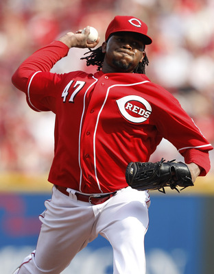 CINCINNATI, OH - JUNE 4: Johnny Cueto #47 of the Cincinnati Reds pitches against the Los Angeles Dodgers at Great American Ball Park on June 4, 2011 in Cincinnati, Ohio. The Dodgers won 11-8 in eleven innings. (Photo by Joe Robbins/Getty Images)