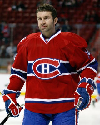MONTREAL- APRIL 19:  Roman Hamrlik #44 of the Montreal Canadiens skates during the warm up period prior to facing the Washington Capitals in Game Three of the Eastern Conference Quarterfinals during the 2010 NHL Stanley Cup Playoffs at the Bell Centre on