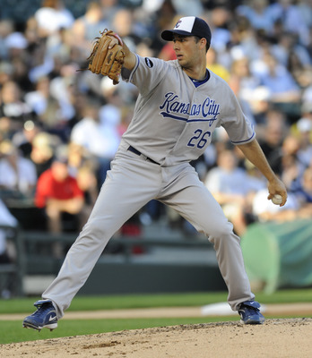 CHICAGO, IL - JULY 04: Jeff Francis # 26 of the Kansas City Royals pitches against the Chicago White Sox  on July 4, 2011 at U.S. Cellular Field in Chicago, Illinois.  (Photo by David Banks/Getty Images)
