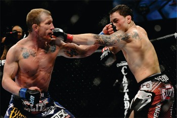 Frankie Edgar just can't get rid of Gray Maynard. After losing to him in their first match, their title fight ended in a draw. Hopefully, the rubber match solves the title picture for good.