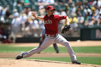 OAKLAND, CA - JULY 03:  Ian Kennedy #31 of the Arizona Diamondbacks pitches against the Oakland Athletics at Oakland-Alameda County Coliseum on July 3, 2011 in Oakland, California.  (Photo by Jed Jacobsohn/Getty Images)