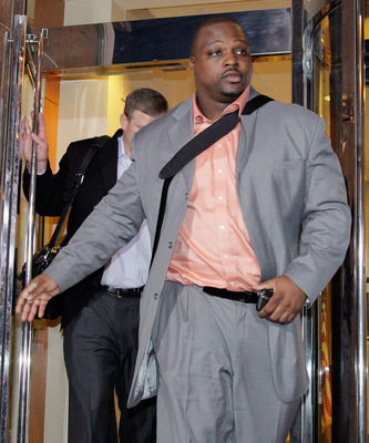 WASHINGTON, DC - MARCH 08: Kansas City Chiefs player Brian Waters leaves negotiations at the Federal Mediation and Conciliation Service building March 8, 2011 in Washington, DC. Representatives from the National Football League (NFL) and National Football