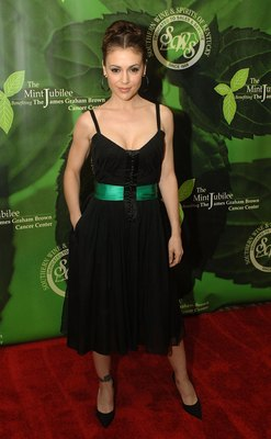LOUISVILLE, KY - MAY 05:  Actress Alyssa Milano attends the 2006 Mint Jubilee Gala benefit for James Graham Brown Cancer Center in the Grand Ballroom at the Galt House East on May 5, 2006 in Louisville, Kentucky.  (Photo by Jeff Gentner/Getty Images)