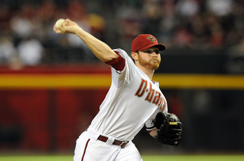 PHOENIX, AZ - JUNE 27:  Starting Pitcher Ian Kennedy #31 of the Arizona Diamondbacks delivers a pitch in the first inning against the Cleveland Indians at Chase Field on June 27, 2011 in Phoenix, Arizona.  (Photo by Norm Hall/Getty Images)