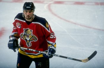 16 Oct 1997:  Defenseman Ed Jovanovski of the Florida Panthers in action during a game against the Dallas Stars at the Reunion Arena in Dallas, Texas.  The Stars defeated the Panthers 4-0. Mandatory Credit: Stephen Dunn  /Allsport