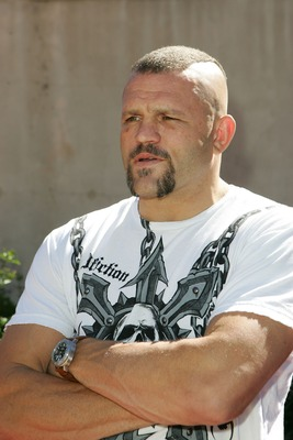 LOS ANGELES, CA - OCTOBER 07:  UFC fighter Chuck Liddell arrives for Tony Hawk's Proving Ground Stand Up For Skateparks event at a private residence on October 7, 2007 in Los Angeles, California.  (Photo by Noel Vasquez/Getty Images)