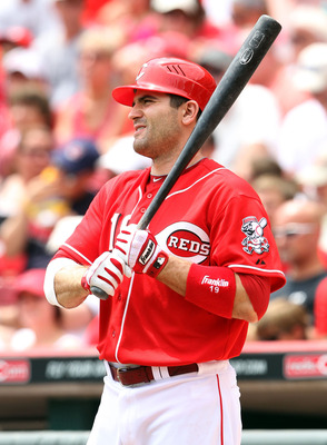 CINCINNATI, OH - JULY 03:  Joey Votto #19 of the Cincinnati Reds waits to bat during the game against the Cleveland Indians at Great American Ball Park on July 3, 2011 in Cincinnati, Ohio.  (Photo by Andy Lyons/Getty Images)