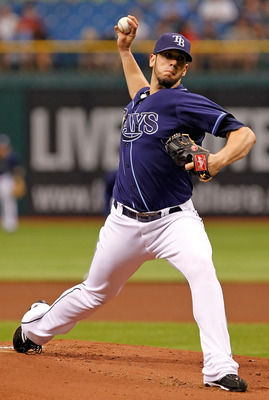 ST PETERSBURG, FL - JUNE 29:  :  Pitcher James Shields #33 of the Tampa Bay Rays pitches against the Cincinnati Reds during the game at Tropicana Field on June 29, 2011 in St. Petersburg, Florida.  (Photo by J. Meric/Getty Images)