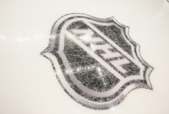 PITTSBURGH - OCTOBER 07:  New logos are etched into the ice prior to the game between the Pittsburgh Penguins and the Philadelphia Flyers at the Consol Energy Center on October 7, 2010 in Pittsburgh, Pennsylvania.  (Photo by Bruce Bennett/Getty Images)