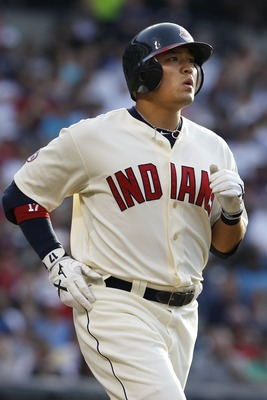 CLEVELAND, OH - JUNE 18:   Shin-Soo Choo #17 of the Cleveland Indians walks during the first inning against the Pittsburgh Pirates in  their game on June 18, 2011 at Progressive Field in Cleveland, Ohio.  The Indians defeated the Pirates 5-1.  (Photo by D