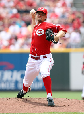 CINCINNATI, OH - JULY 03:  Mike Leake #44 of the Cincinnati Reds throws a pitch during the game against the Cleveland Indians at Great American Ball Park on July 3, 2011 in Cincinnati, Ohio.  (Photo by Andy Lyons/Getty Images)