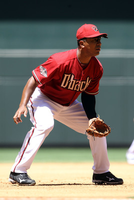 PHOENIX, AZ - APRIL 27:  Infielder Melvin Mora #4 of the Arizona Diamondbacks in action during the Major League Baseball game against the Philadelphia Phillies at Chase Field on April 27, 2011 in Phoenix, Arizona.  The Phillies defeated the Diamondbacks 8