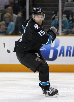 SAN JOSE, CA - MAY 22:  Dany Heatley #15 of the San Jose Sharks skates against the Vancouver Canucks in Game Four of the Western Conference Finals during the 2011 Stanley Cup Playoffs at HP Pavilion on May 22, 2011 in San Jose, California. The Canucks def