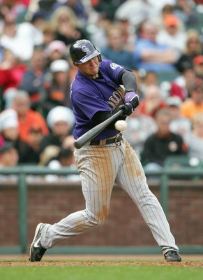 SAN FRANCISCO - MAY 27: Troy Tulowitzki #2 of the Colorado Rockies swings at the pitch against the San Francisco Giants during a Major League Baseball game on May 27, 2007 at AT&T Park in San Francisco. (Photo by Jed Jacobsohn/Getty Images)