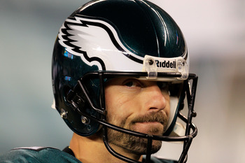 PHILADELPHIA, PA - JANUARY 09:  David Akers #2 of the Philadelphia Eagles reacts during the fourth quarter against the Green Bay Packers during the 2011 NFC wild card playoff game at Lincoln Financial Field on January 9, 2011 in Philadelphia, Pennsylvania