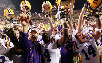 Les Miles and his players have had a lot to celebrate in recent years.