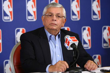 David Stern addressing the lockout