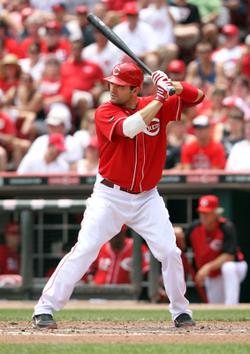 CINCINNATI, OH - JULY 03:  Joey Votto #19 of the Cincinnati Reds is at bat during the game against the Cleveland Indians at Great American Ball Park on July 3, 2011 in Cincinnati, Ohio.  (Photo by Andy Lyons/Getty Images)