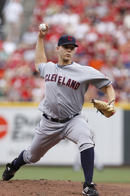 CINCINNATI, OH - JULY 1: Justin Masterson #63 of the Cleveland Indians pitches against the Cincinnati Reds at Great American Ball Park on July 1, 2011 in Cincinnati, Ohio. (Photo by Joe Robbins/Getty Images)