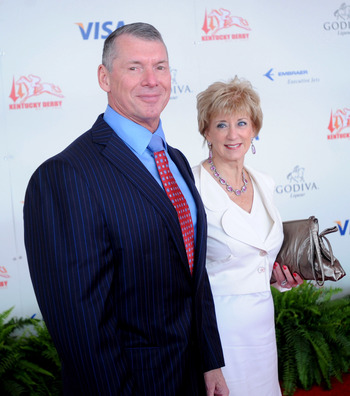 LOUISVILLE, KY - MAY 3:  WWE Chairman Vince McMahon and his wife Linda McMahon, CEO of World Wrestling Entertainment, Inc., attend the 134th running of the Kentucky Derby at Churchill Downs on May 3, 2008 in Louisville, Kentucky. (Photo by Jeff Gentner/Ge