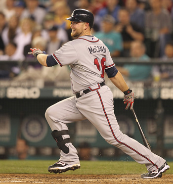Brian McCann is the top catcher in the National League, but has taken a back seat to Mauer for the MLB title.