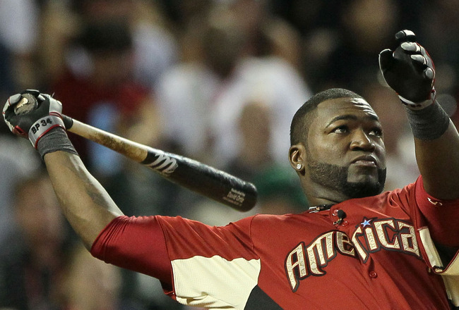 PHOENIX, AZ - JULY 11:  American League All-Star David Ortiz #34 of the Boston Red Sox participates in the second round of the 2011 State Farm Home Run Derby at Chase Field on July 11, 2011 in Phoenix, Arizona.  (Photo by Jeff Gross/Getty Images)