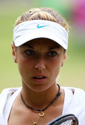 LONDON, ENGLAND - JUNE 30:  Sabine Lisicki of Germany reacts to a play during her semifinal round match against Maria Sharapova of Russia on Day Ten of the Wimbledon Lawn Tennis Championships at the All England Lawn Tennis and Croquet Club on June 30, 201