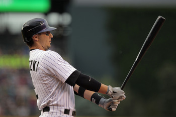 DENVER, CO - JUNE 29:  Shortstop Troy Tulowitzki #2 of the Colorado Rockies prepares to take an at bat against the Chicago White Sox during Interleague play at Coors Field on June 29, 2011 in Denver, Colorado. The White Sox defeated the Rockies 3-2.  (Pho