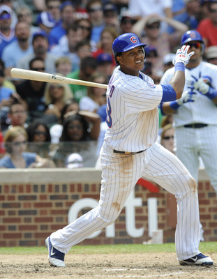 CHICAGO, IL - JULY 03:  Starlin Castro  #13 of the Chicago Cubs bats against the Chicago White Sox  on July 3, 2011 at Wrigley Field in Chicago, Illinois. Castro was selected to the 2011 National League All Star Team.  (Photo by David Banks/Getty Images)