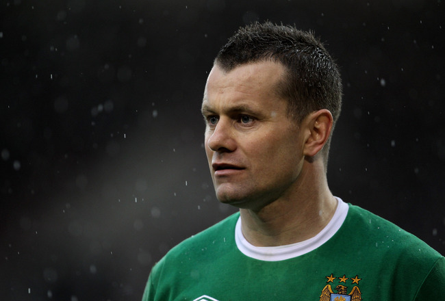 BURNLEY, ENGLAND - APRIL 03:  Shay Given of Manchester City looks on during the Barclays Premier League match between Burnley and Manchester City at Turf Moor on April 3, 2010 in Burnley, England.  (Photo by Alex Livesey/Getty Images)