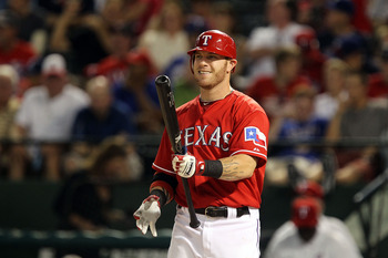 ARLINGTON, TX - JULY 26:  Josh Hamilton #32 of the Texas Rangers at Rangers Ballpark in Arlington on July 26, 2011 in Arlington, Texas.  (Photo by Ronald Martinez/Getty Images)