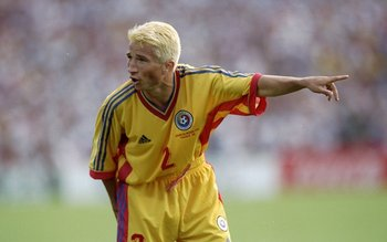 30 Jun 1998:  Dan Petrescu of Romania during the World Cup second round match against Croatia at the Stade Lescure in Bordeaux, France. \ Mandatory Credit: Shaun Botterill /Allsport