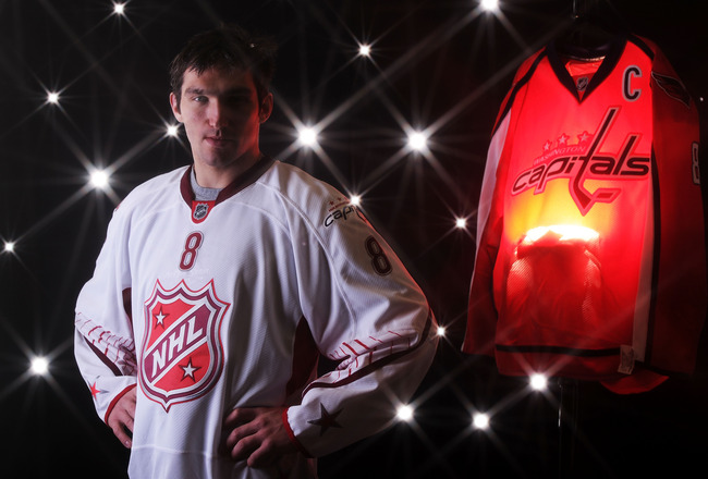 RALEIGH, NC - JANUARY 30:  (EDITORS NOTE: A special effects camera filter was used for this image.) Alexander Ovechkin #8 of the Washington Capitals for Team Staal poses for a portrait before the 58th NHL All-Star Game at RBC Center on January 30, 2011 in
