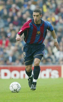 14 Apr 2002:  Fabio Rochemback of Barcelona in action during the Primera Liga match between Barcelona and Alaves, played at the Camp Nou Stadium, Barcelona.  DIGITAL IMAGE. Mandatory Credit: Firo Foto/Getty Images