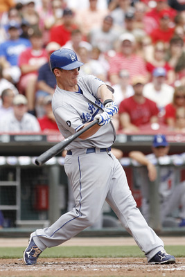 CINCINNATI, OH - JUNE 5: Chad Billingsley #58 of the Los Angeles Dodgers bats against the Cincinnati Reds at Great American Ball Park on June 5, 2011 in Cincinnati, Ohio. (Photo by Joe Robbins/Getty Images)