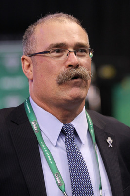 ST PAUL, MN - JUNE 24:  Head coach Paul MacLean of the Ottawa Senators looks on before day one of the 2011 NHL Entry Draft at Xcel Energy Center on June 24, 2011 in St Paul, Minnesota.  (Photo by Bruce Bennett/Getty Images)