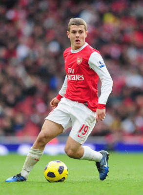 LONDON, ENGLAND - NOVEMBER 07:  Jack Wilshere of Arsenal in action during the Barclays Premier League match between Arsenal and Newcastle United at the Emirates Stadium on November 7, 2010 in London, England.  (Photo by Mike Hewitt/Getty Images)