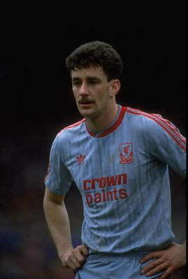 1989:  Portrait of John Aldridge of Liverpool during a match against Nottingham Forest at the City Ground in Nottingham, England. Nottingham Forest won the match 2-1. \ Mandatory Credit: Russell  Cheyne/Allsport