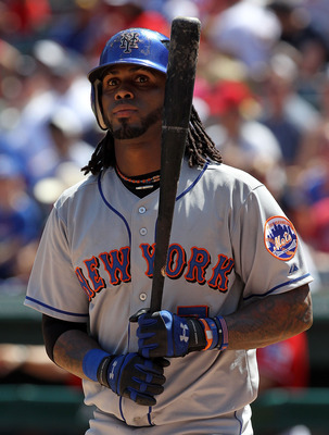 ARLINGTON, TX - JUNE 25:  Jose Reyes #7 of the New York Mets at Rangers Ballpark in Arlington on June 25, 2011 in Arlington, Texas.  (Photo by Ronald Martinez/Getty Images)