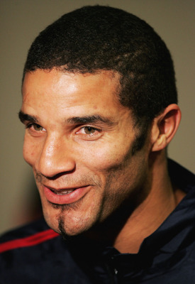 MANCHESTER, ENGLAND - OCTOBER 7: David James of England faces the media during the England mixed zone press conference at Old Trafford on October 7, 2004 before the FIFA World Cup Qualifying Match between England and Wales in Manchester, England. (Photo b
